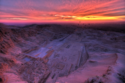 The memorial temple of Queen Hatshepsut and the Dayr Al Bahari cirque - Luxor Egypt