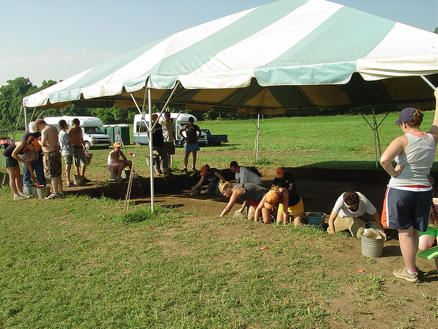 Archeological research is conducted by the Longwood University Archeological Field School
