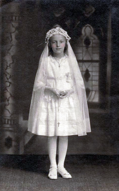 Vintage Postcard First Communion Flickr Photo Sharing