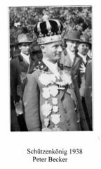 1938, Schützenkönig Peter Becker, SW047