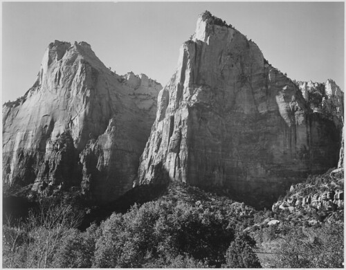 """Court of the Patriarchs, Zion National Park,"" Utah"
