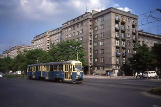 Kraków Tramwaj, Nova Huta. Konstal 102Na nr 298, Linia 25. May 1991
