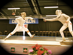 weapon combat sports(1.0), fencing weapon(1.0), contact sport(1.0), sports(1.0), combat sport(1.0), fencing(1.0), foil(1.0), performance art(1.0),