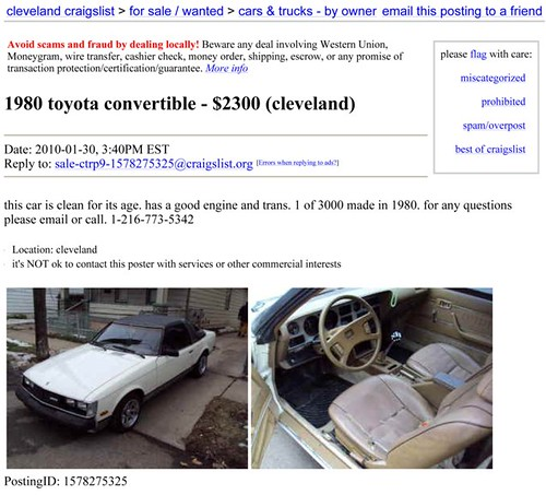 Cleveland craigslist org autos post for Craigslist cleveland farm and garden