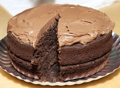 chocolate ice cream(0.0), german chocolate cake(0.0), icing(0.0), cake(1.0), buttercream(1.0), chocolate cake(1.0), ganache(1.0), baked goods(1.0), sachertorte(1.0), flourless chocolate cake(1.0), food(1.0), chocolate brownie(1.0), torte(1.0), chocolate(1.0),