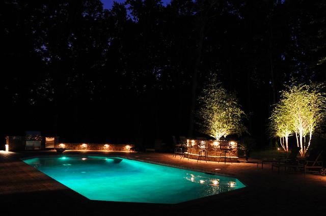 inground swimming pool with led light green explore elite flickr phot. Black Bedroom Furniture Sets. Home Design Ideas