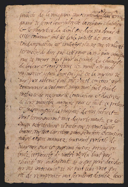 Last letter of Mary, Queen of Scots