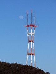 Sutro Tower and Moon