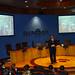 Fernando Manzano, experto en inteligencia del grupo Interligare, durante la sesión que impartió a los participantes el programa Aulas de I+D, organizado conjuntamente por Tecnópole y la empresa Intellectia Bank. Tecnópole, 25 de marzo de 2010.