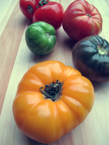 T is for Heirloom Tomato