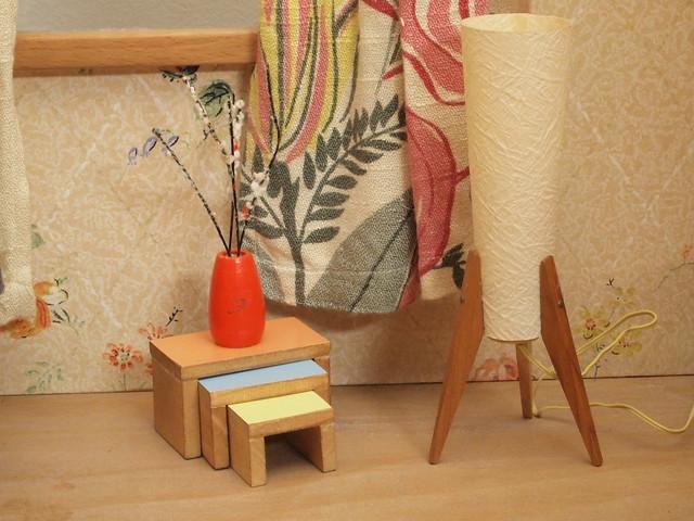 drei raum puppenstube 50er lampe und 3er tisch flickr photo sharing. Black Bedroom Furniture Sets. Home Design Ideas