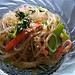 Sally's japchae (stir-fried glass noodles with vegetables and meat)