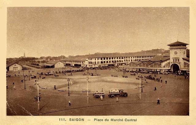 Saïgon - Place du Marché Central, 1932