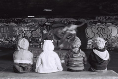 Kids watching skateboarder - 2