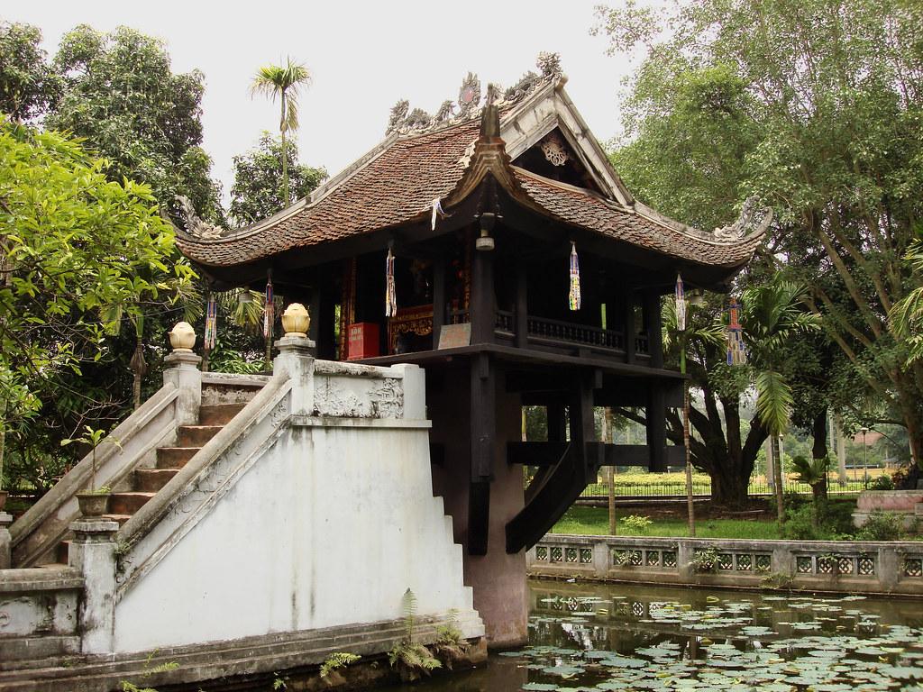 La pagode Môt Côt ou pagode au Pilier unique à Hanoi - Photo de Jorge Láscar