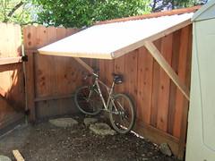 Fence Supported Bike Shelter | Flickr - Photo Sharing!