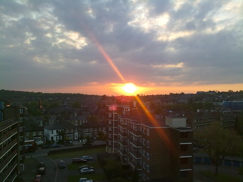 sunset over south london