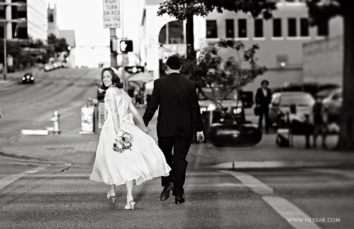 bride crossing