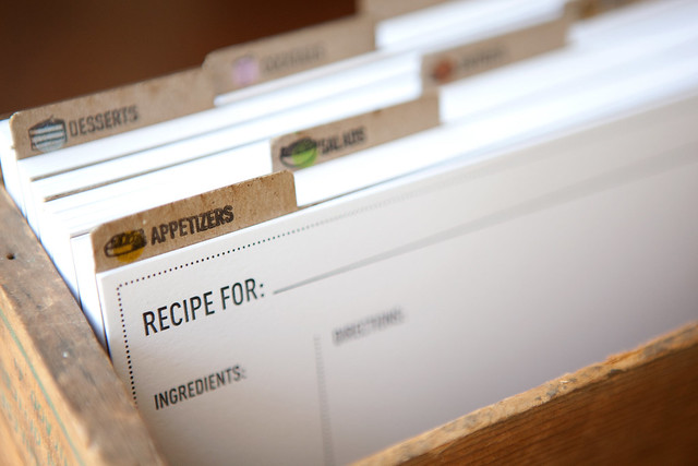 Recipe Cards And Box Recipe Card Box Example