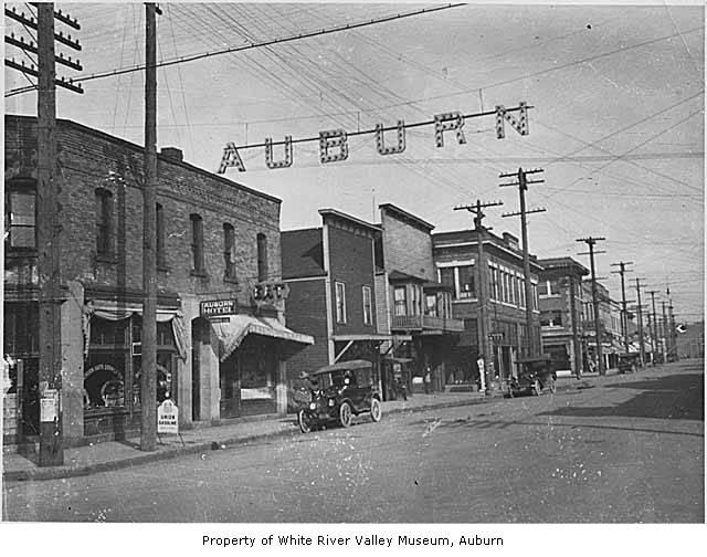 Main Street With Auburn Auto Supply Company And Auburn