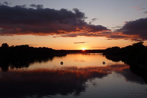 sunset canada river rivière québec qc coucherdesoleil troisrivières stmaurice