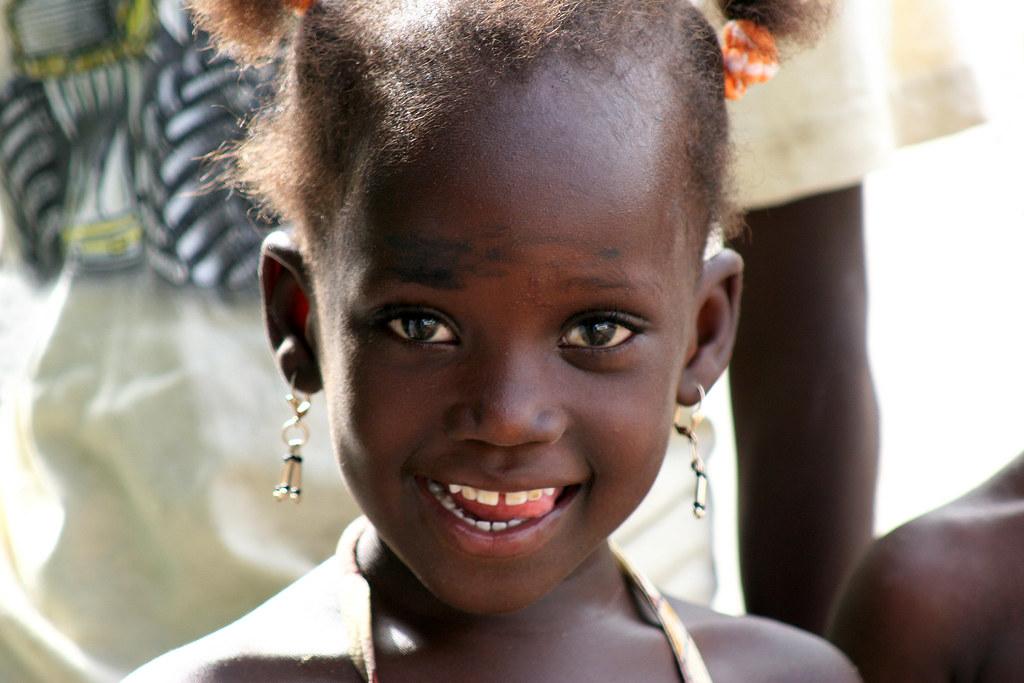 Portrait of a girl in Senegal.