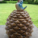 Bluebird on Pinecone Cookie Jar