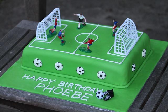 football pitch birthday cakes