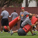 Erik (a friends son) at USC Trojans Camp Kiffin