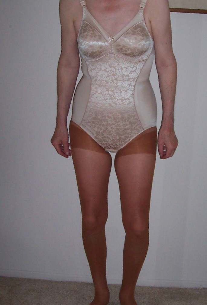 With panty girdle over pantyhose not absolutely