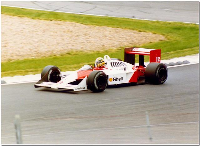 Ayrton Senna McLaren-Honda MP4/4 F1. 1988 British GP Silverstone