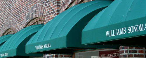Awnings At Williams Sonoma Upper Montclair NJ