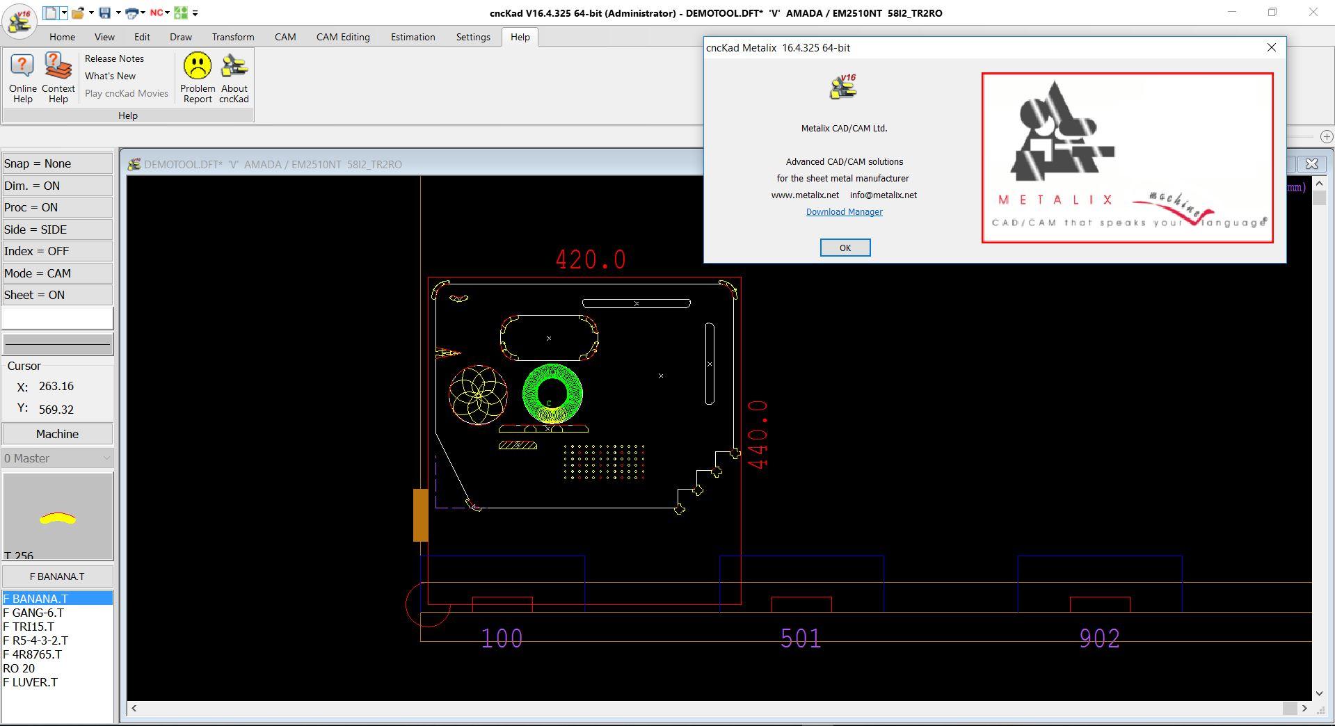 working with metalix cnckad v16 x86 x64 full license
