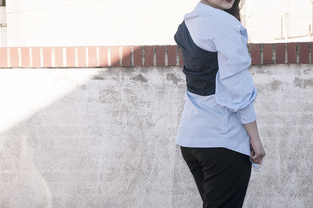 valencia something fashion blogger spain influencer streetstyle lightinthebox blue shirt work_0299 copia