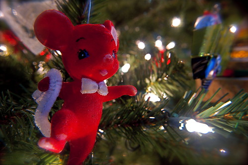 1970 Little Red Mouse Ornament