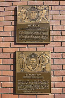 San Francisco: AT&T Park - San Francisco Giants Wall of Fame - Will Clark and John Burkett