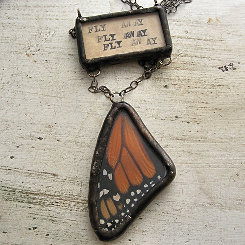 Fly Away Monarch Wing Necklace