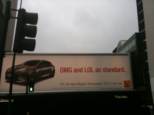 OMG and LOL as standard! Brilliant... #renault
