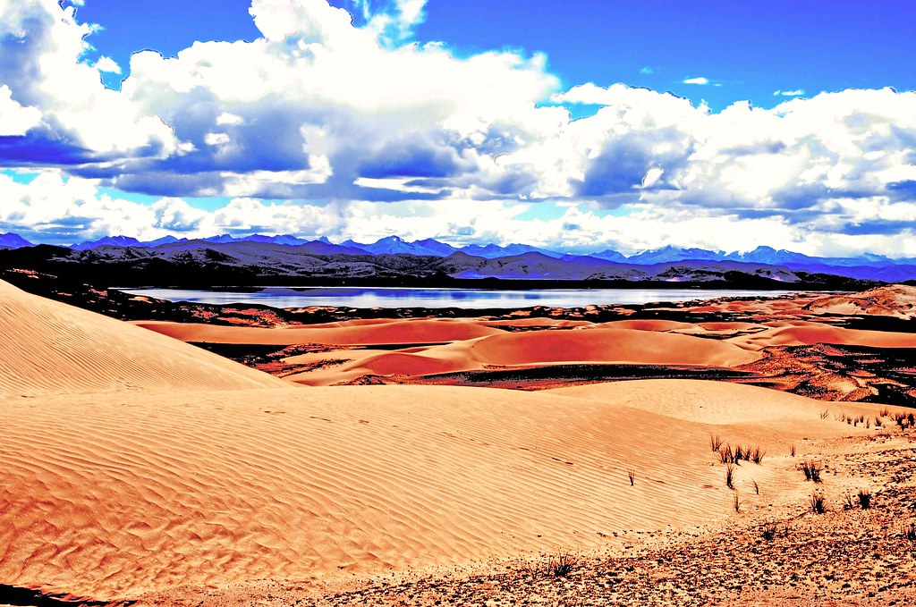 Tibet. Roaming sands. PhotoshopHDR4433-1