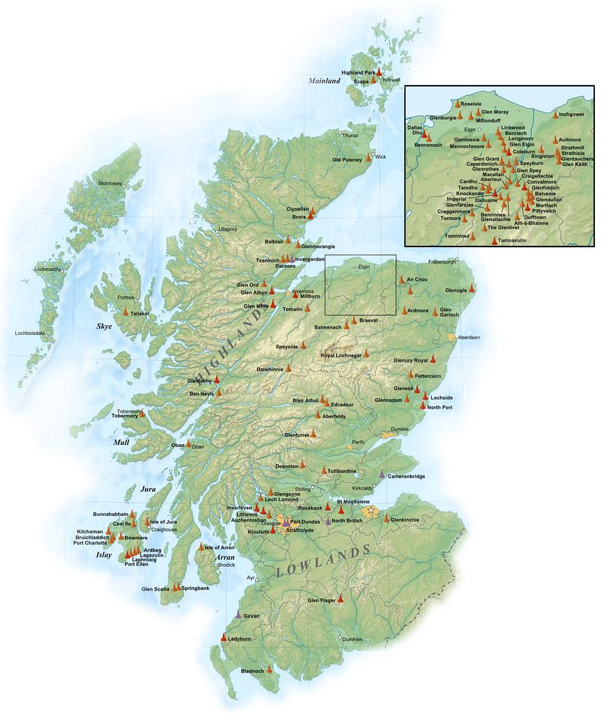 Scotland Distilleries Map   Joseph Forester   Flickr on scotland castles map, scotland lochs map, scotland golf map, scotland hostels map, scotland agriculture map, scotland airports map, scotland attractions map, scotland whisky regions map, scotland mountains map, scotland ferries map,