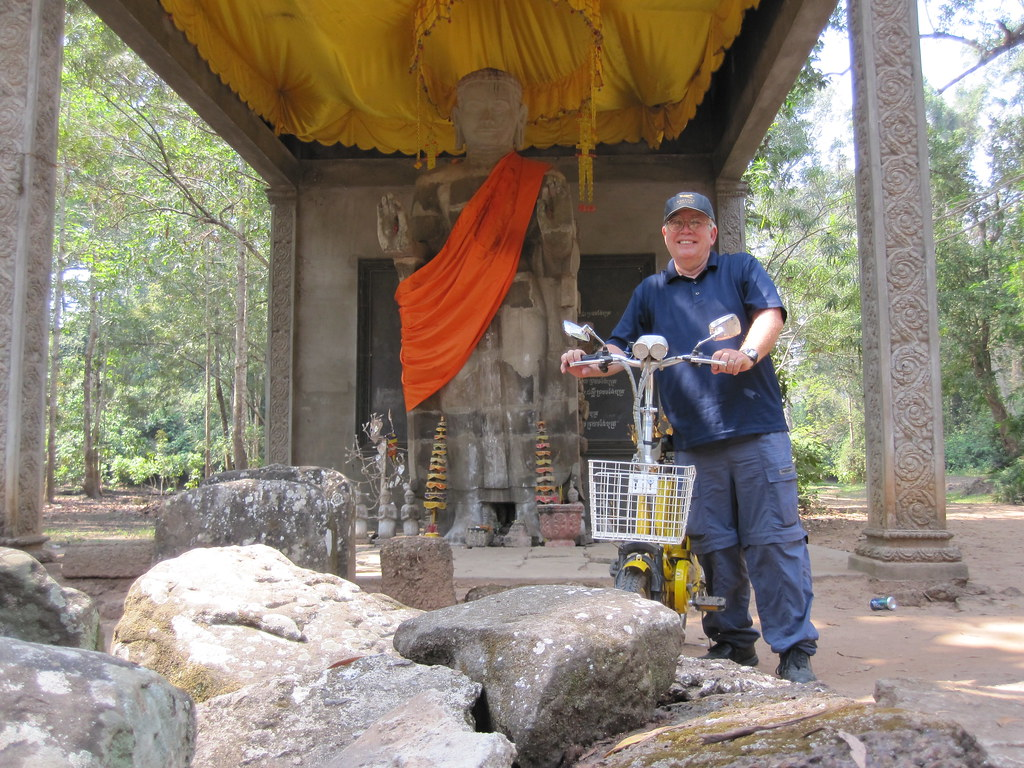 Buddha Meets Electric Bike - Angkor Wat