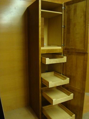 Kraftmaid Maple Kitchen Bathroom Pantry Cabinet 21 W