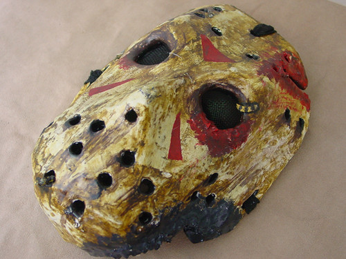 Papier mache jason mask flickr photo sharing - Masque papier mache ...