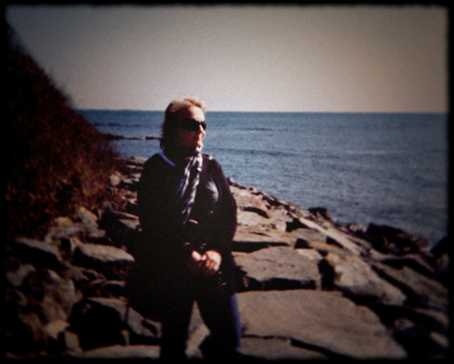 Kerry on the Cliff Walk, Newport RI