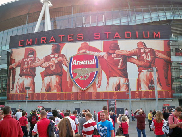 Arsenal fc arsenalisation of the emirates stadium murals for Emirates stadium mural
