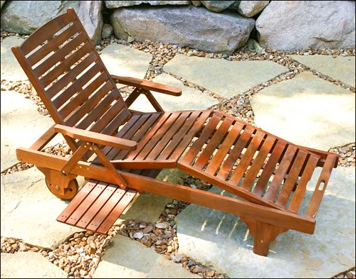 Acacia wooden chaise lounge flickr photo sharing for Acacia wood chaise lounge