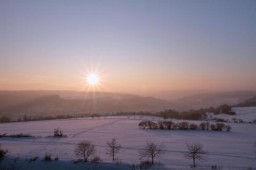 winter sunset cold wintersun eselsberg riverblau blautal canon7d