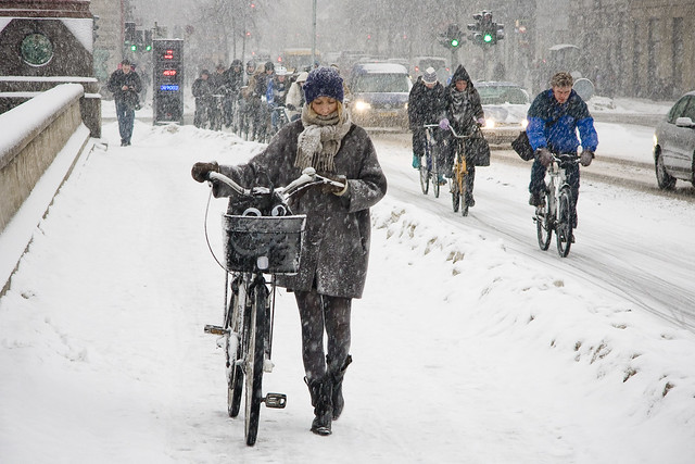 Walk or Ride - Cycling in Winter in Copenhagen