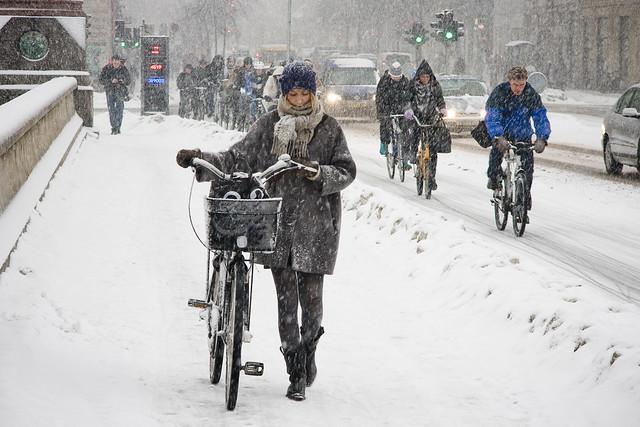 Walk or Ride - Cycling in Winter in Copenhagen