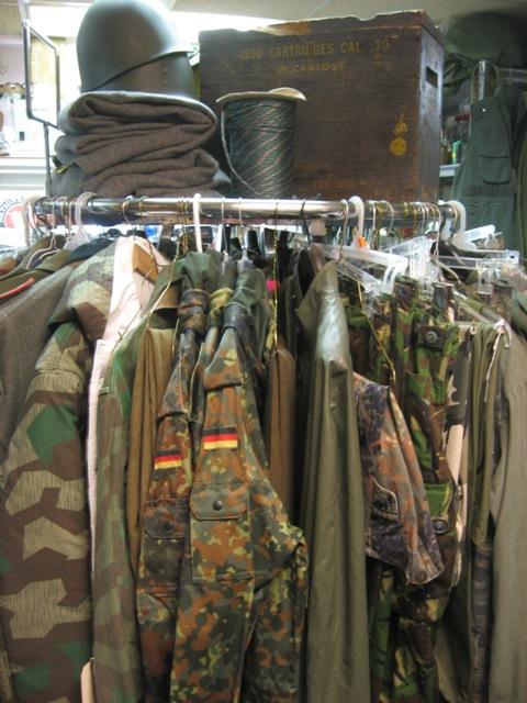 Surplus clothing store